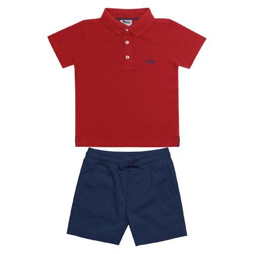 Conjunto-Infantil-Polo-com-Bermuda-Trick-Nick-Vermelho