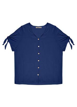 Camisa-Plus-Size-Feminina-de-Botoes-Secret-Glam-Azul