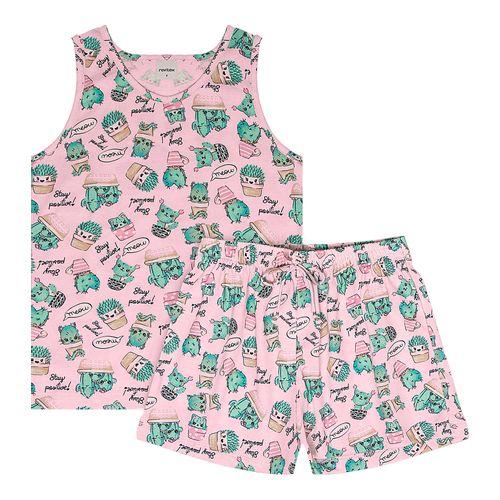 Pijama-Infantil-Feminino-Cactos-Rovitex-Kids-Rosa