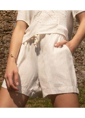 Shorts-Feminino-Viscolinho-Listrado-Endless-Bege