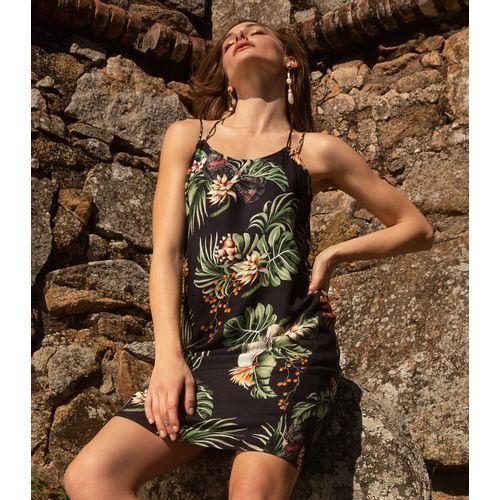 Vestido-Curto-Floral-Endless-Preto
