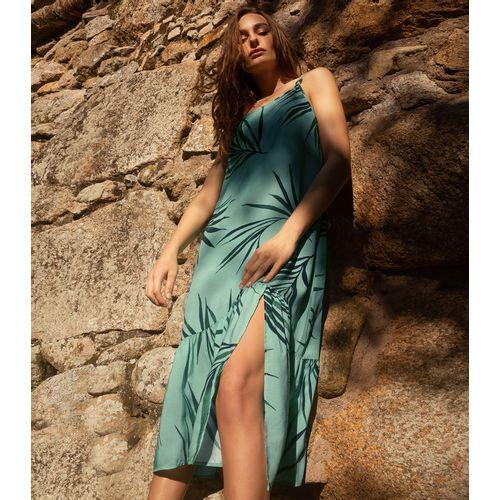Vestido-Midi-Estampado-Endless-Verde