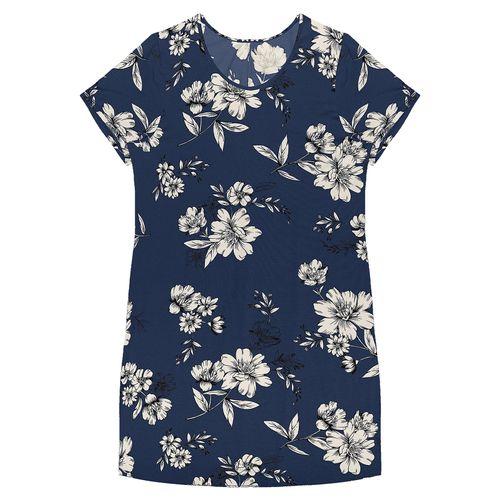 Vestido-Floral-Rovitex-Plus-Azul