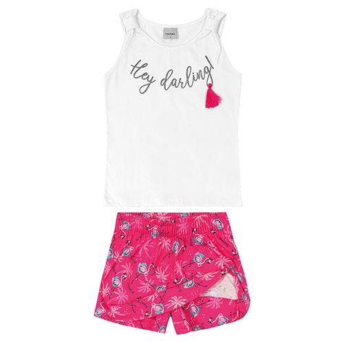 Conjunto-Infantil-Feminino-Flamingo-Rovitex-Kids-Branco