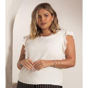Blusa-Plus-Size-Feminina-Chiffon-Secret-Glam-Bege