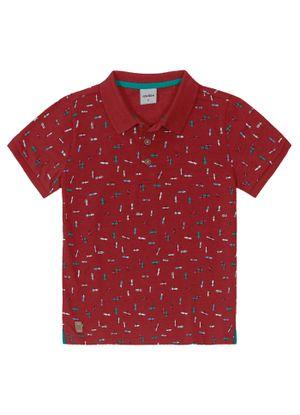 Camisa-Polo-Infantil-Masculina-Rovitex-Kids-Vermelho