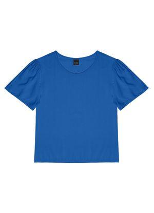 Blusa-Feminina-Com-Mangas-Rovitex-Azul
