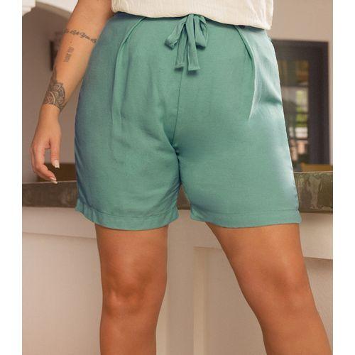 Shorts-Feminino-Plus-Size-Secret-Verde