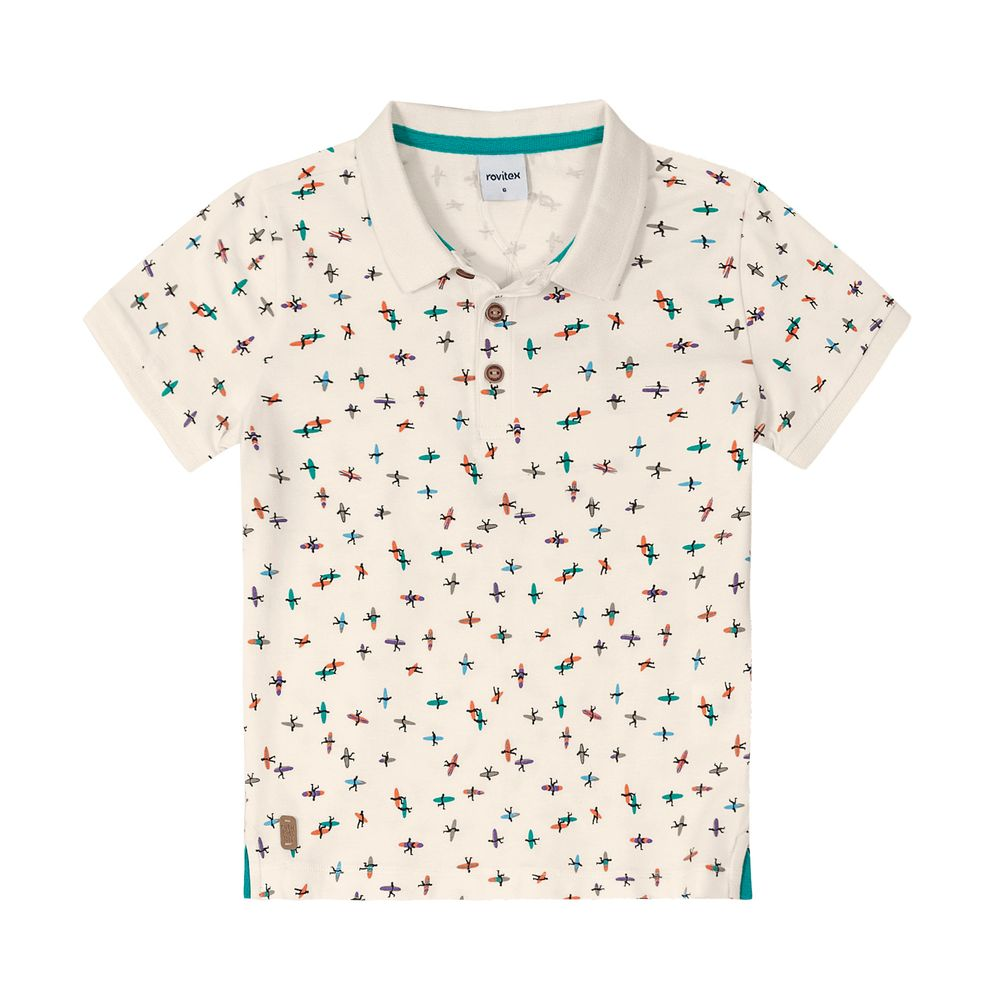 Camisa-Polo-Infantil-Masculina-Rovitex-Kids-Bege