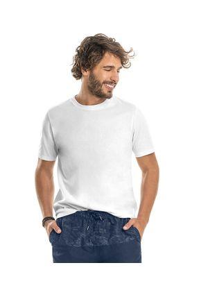 Camiseta-Meia-Malha-Masculina-Rovitex-Basicos-Branco
