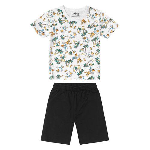 Conjunto-Camiseta-com-Shorts-Rovitex-Kids-Branco