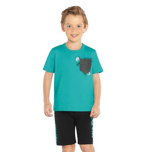 Conjunto-Camiseta-com-Bermuda-Rovitex-Kids-Verde