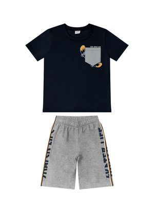 Conjunto-Camiseta-com-Bermuda-Rovitex-Kids-Azul