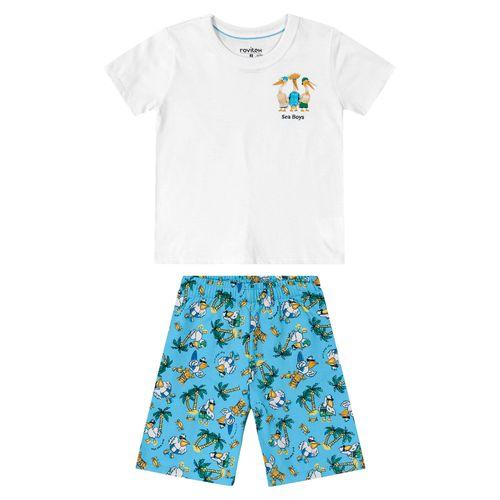 Conjunto-Infantil-Masculino-Tropical-Rovitex-Kids-Branco
