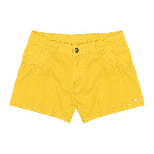 Shorts-Infantil-Feminino-Amarelo