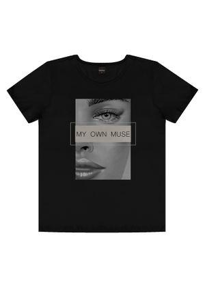 T-shirts-Feminina-Rovitex-Preto