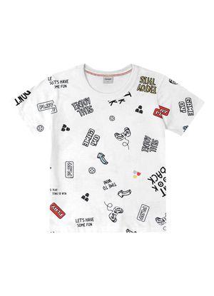 Camiseta-Infantil-Masculino-Rovitex-Kids-Branco