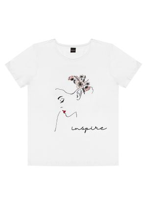 T--Shirt-Feminina-Inspire-Rovitex-Branco
