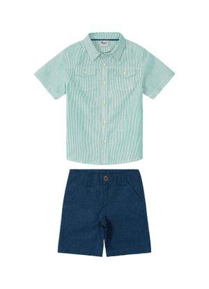 Conjunto-Infantil-Camisa-Masculina-Trick-Nick-Verde