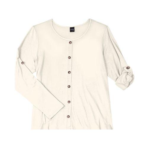 Camisa-Feminina-Manga-Longa-Rovitex-Bege