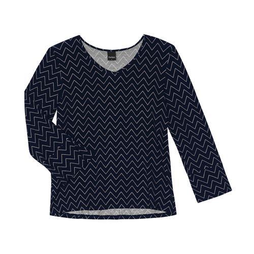 Blusa-Feminina-Chevron-Rovitex-Azul