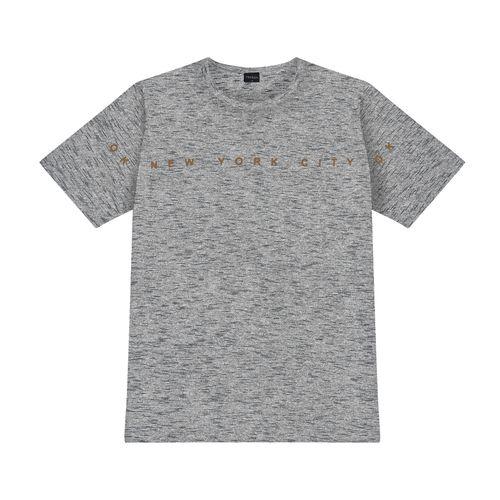 Camiseta-Masculina-New-York-Rovitex-Cinza