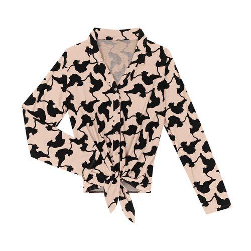 Camisa-Feminina-Manga-Longa-com-Amarracao-Rovitex-Bege