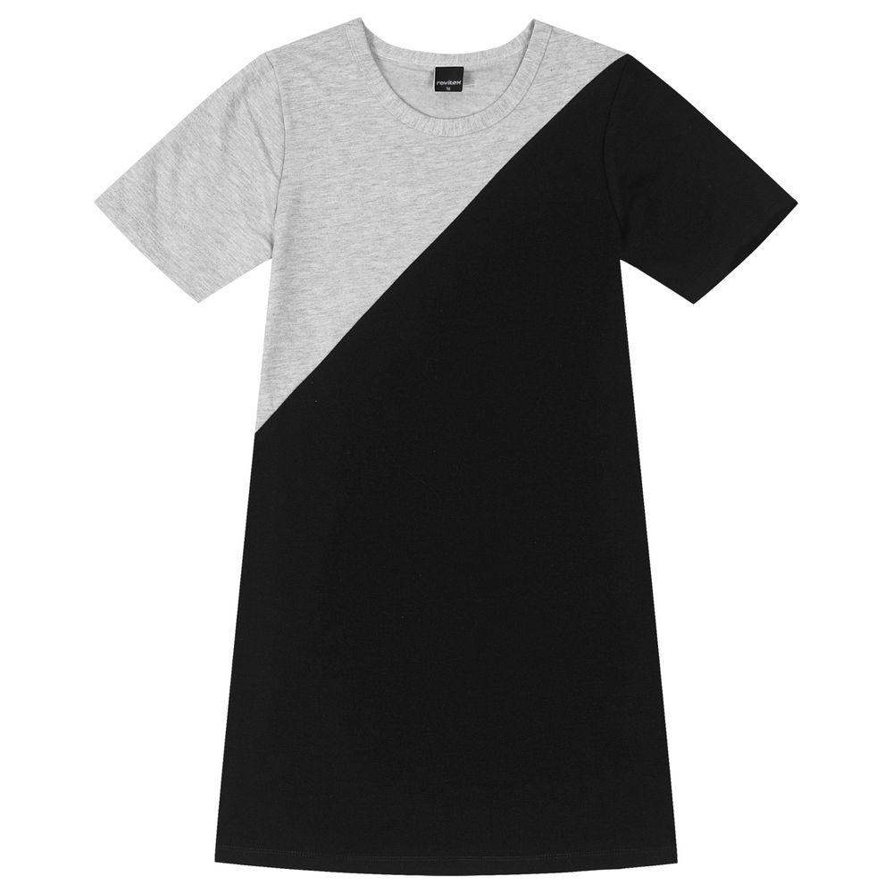Vestido-Juvenil-Rovitex-Teen-Cinza