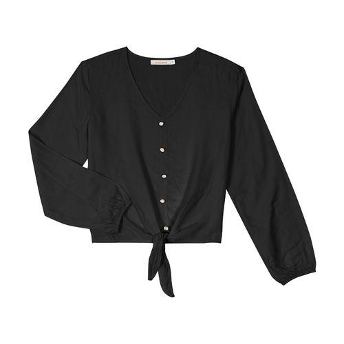 Camisa-Manga-Longa-Endless-Preto