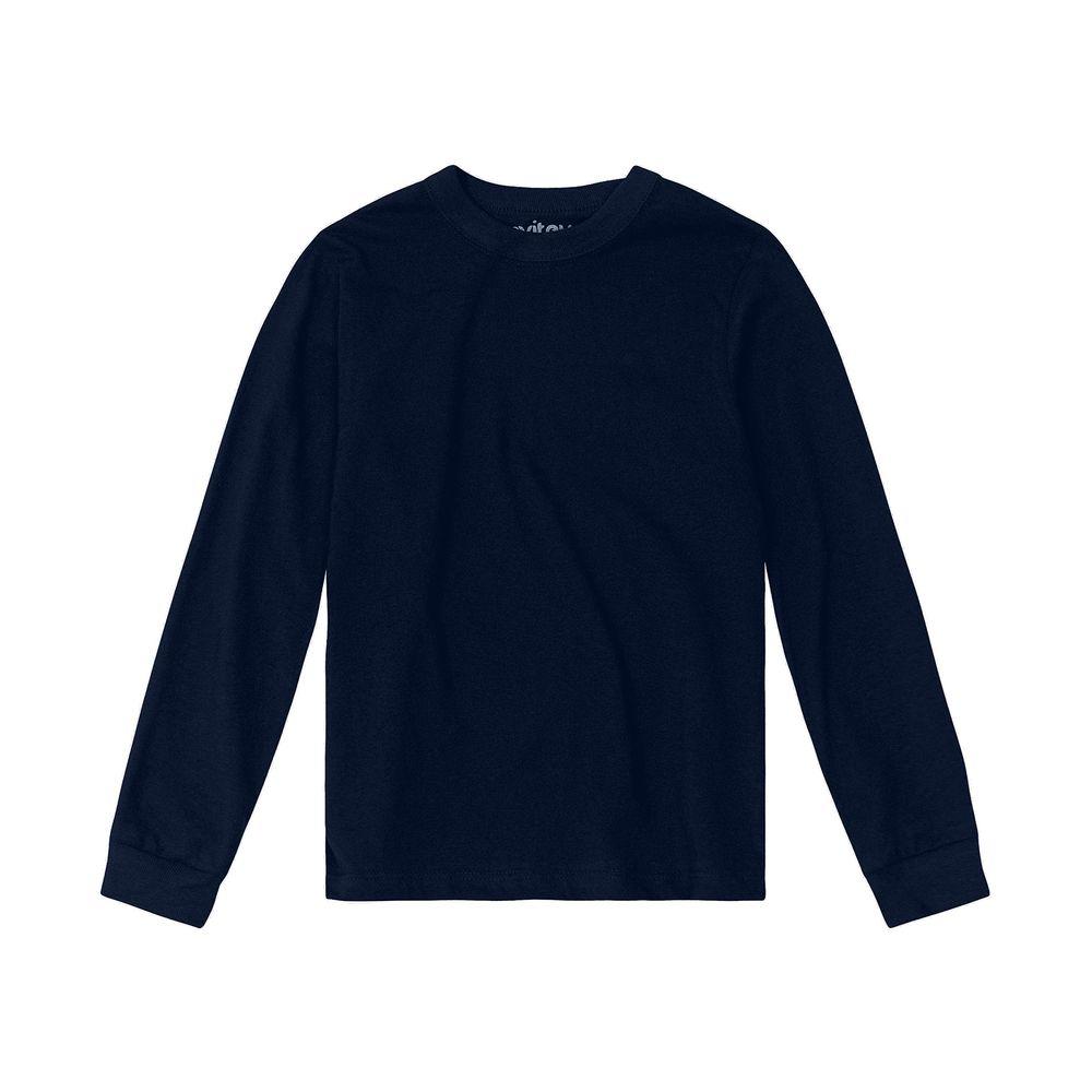 Camiseta-Infantil-Unissex-Meia-Malha-Rovitex-Kids-Azul