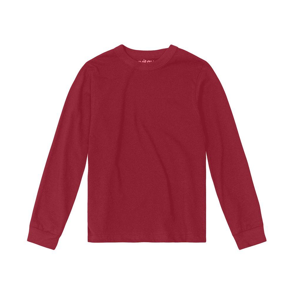 Camiseta-Infantil-Unissex-Meia-Malha-Rovitex-Kids-Vermelho
