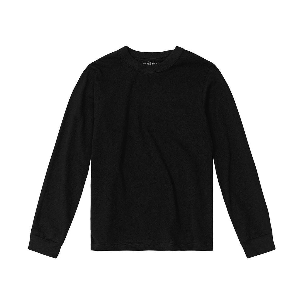 Camiseta-Infantil-Unissex-Meia-Malha-Rovitex-Kids-Preto
