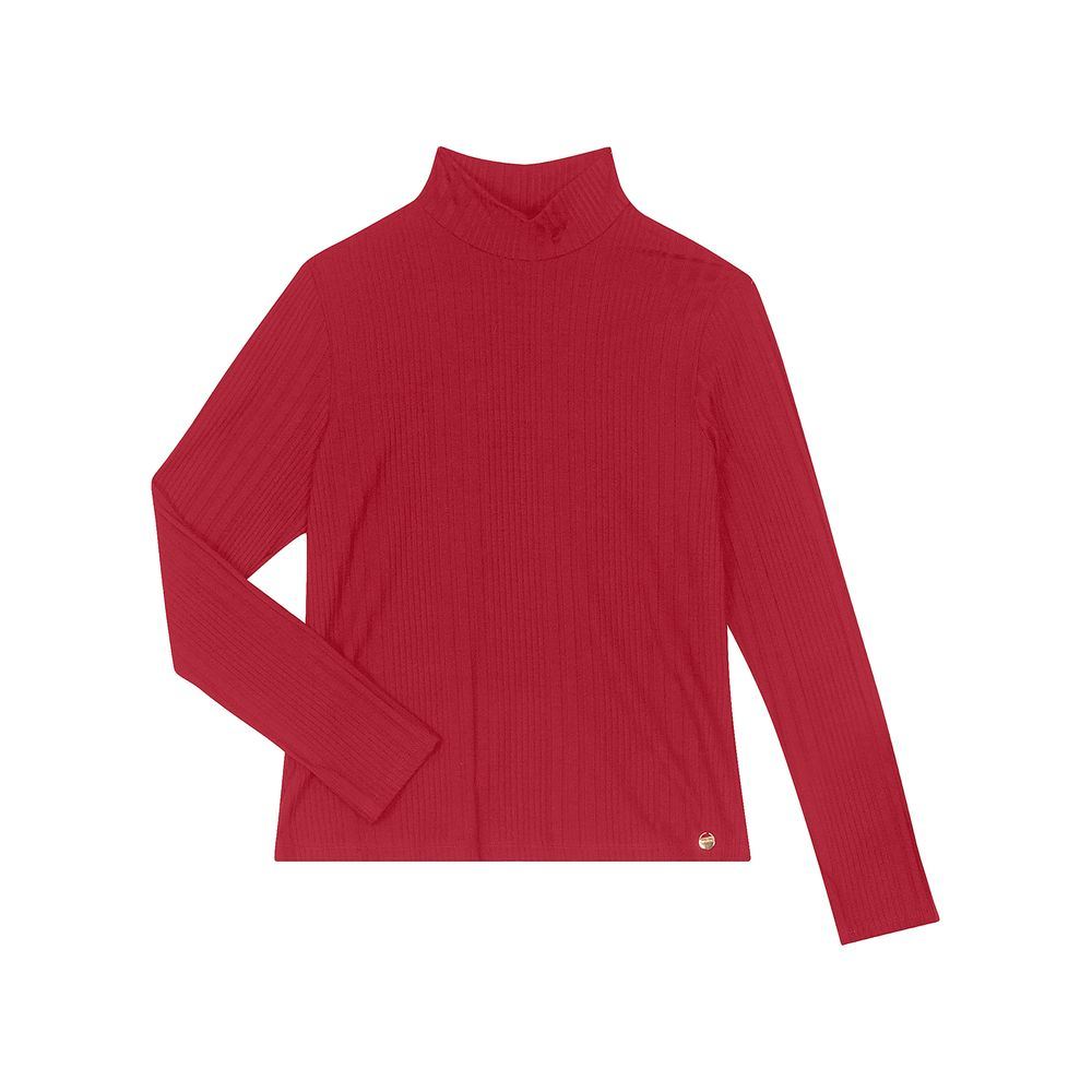 Blusa-Feminina-Gola-Alta-Canelada-Rovitex-Vermelho