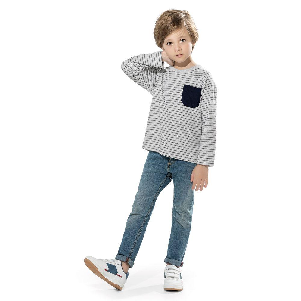 Camiseta-Infantil-Masculina-Trick-Nick-Cinza