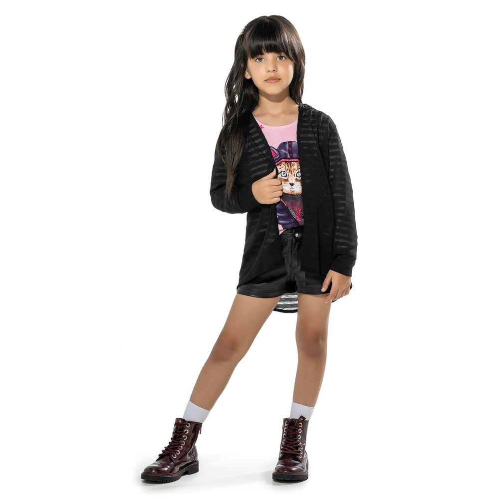 Cardigan-Infantil-Feminino-Trick-Nick-Preto