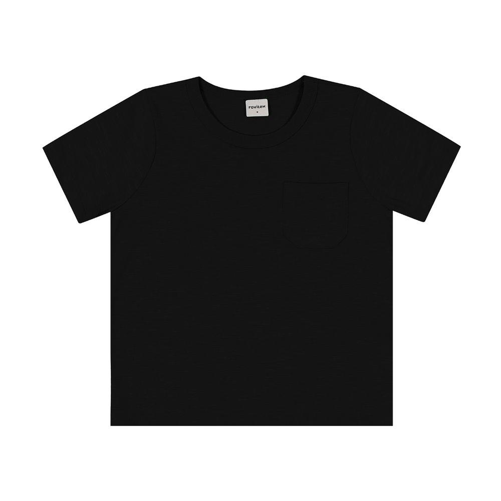 Camiseta-Basica-Infantil-Masculina-Rovitex-Preto