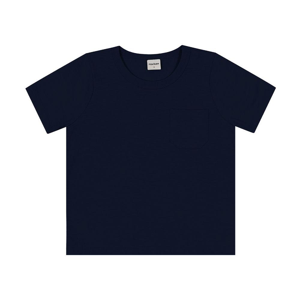 Camiseta-Basica-Infantil-Masculina-Rovitex-Azul