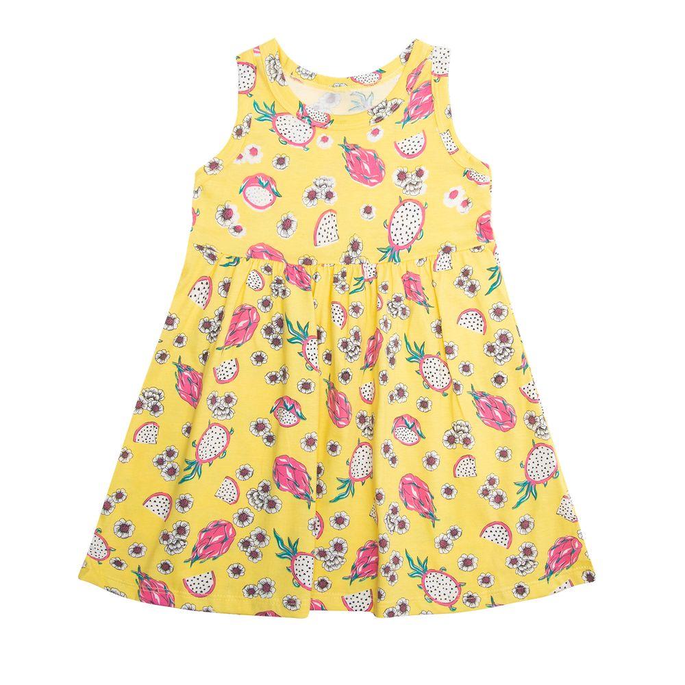 Vestido-Infantil-Rodado-Rovitex-Kids-Amarelo