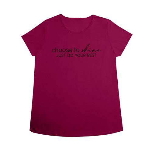 T-shirt-Feminina-com-Estampa-Rovitex-Rosa