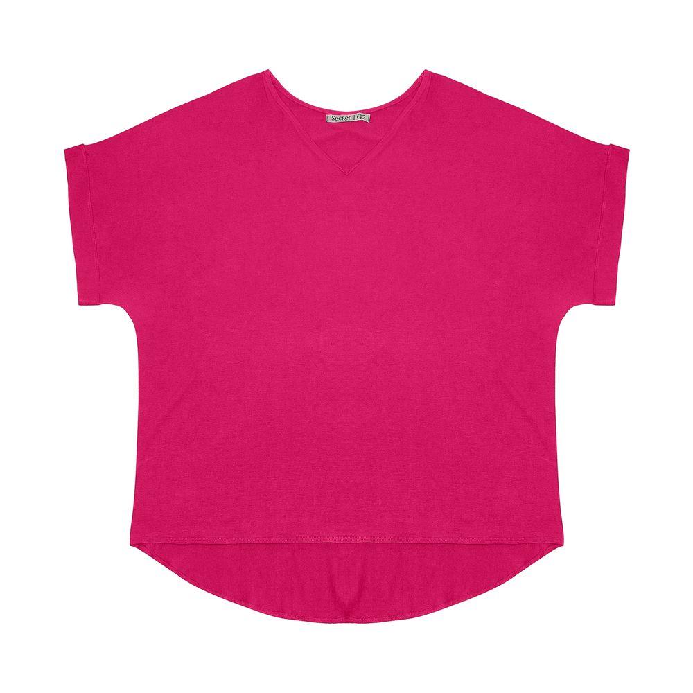 Blusa-Feminina-Plus-Size-Decote-V-Secret-Glam-Rosa