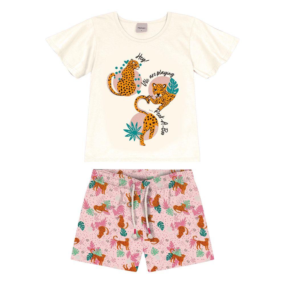 Conjunto-Infantil-Animal-Print-Rovitex-Kids-Bege