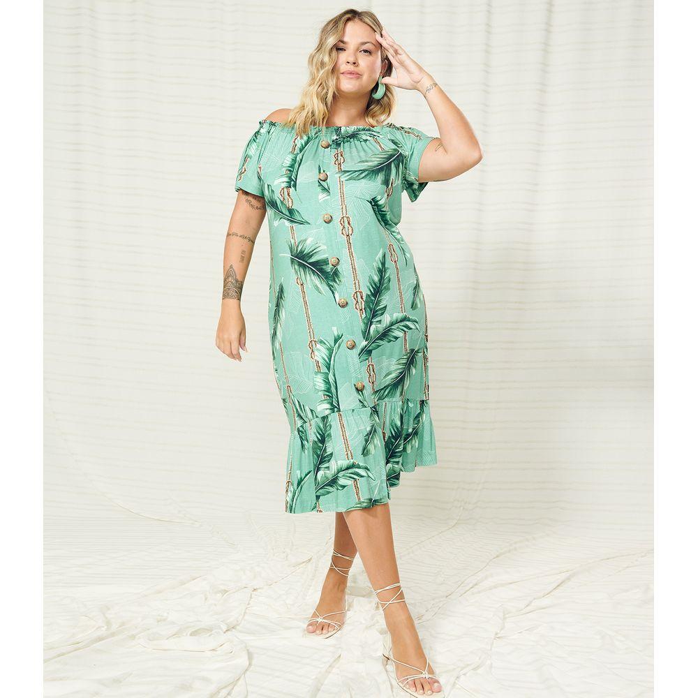 Vestido-Plus-Size-Midi-Ciganinha-Secret-Glam-Verde