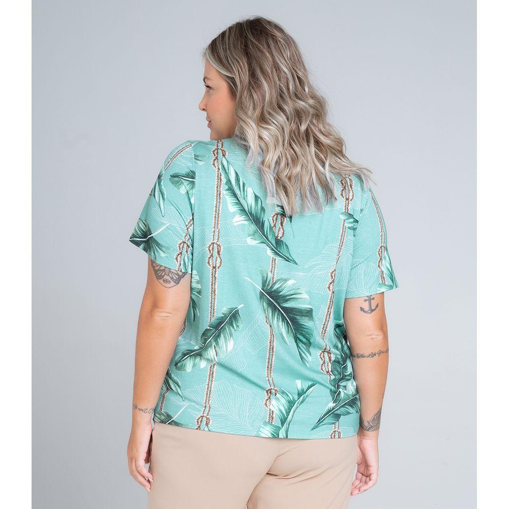 Blusa-Feminina-Plus-Size-Folhas-Secret-Glam-Verde