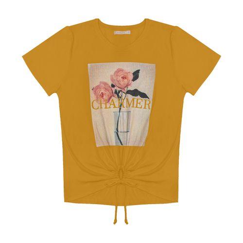 Blusa-Feminina-com-Estampa-Endless-Amarelo