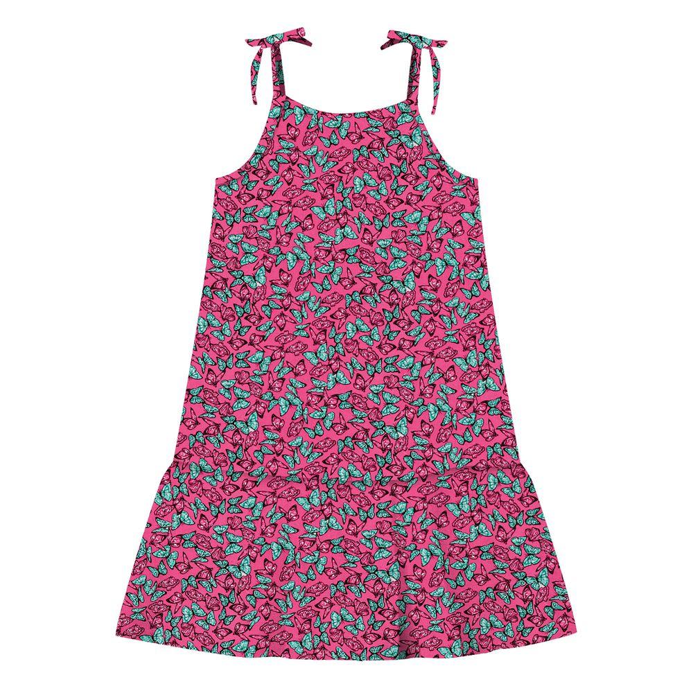 Vestido-Infantil-Borboletas-Rovitex-Kids-Rosa