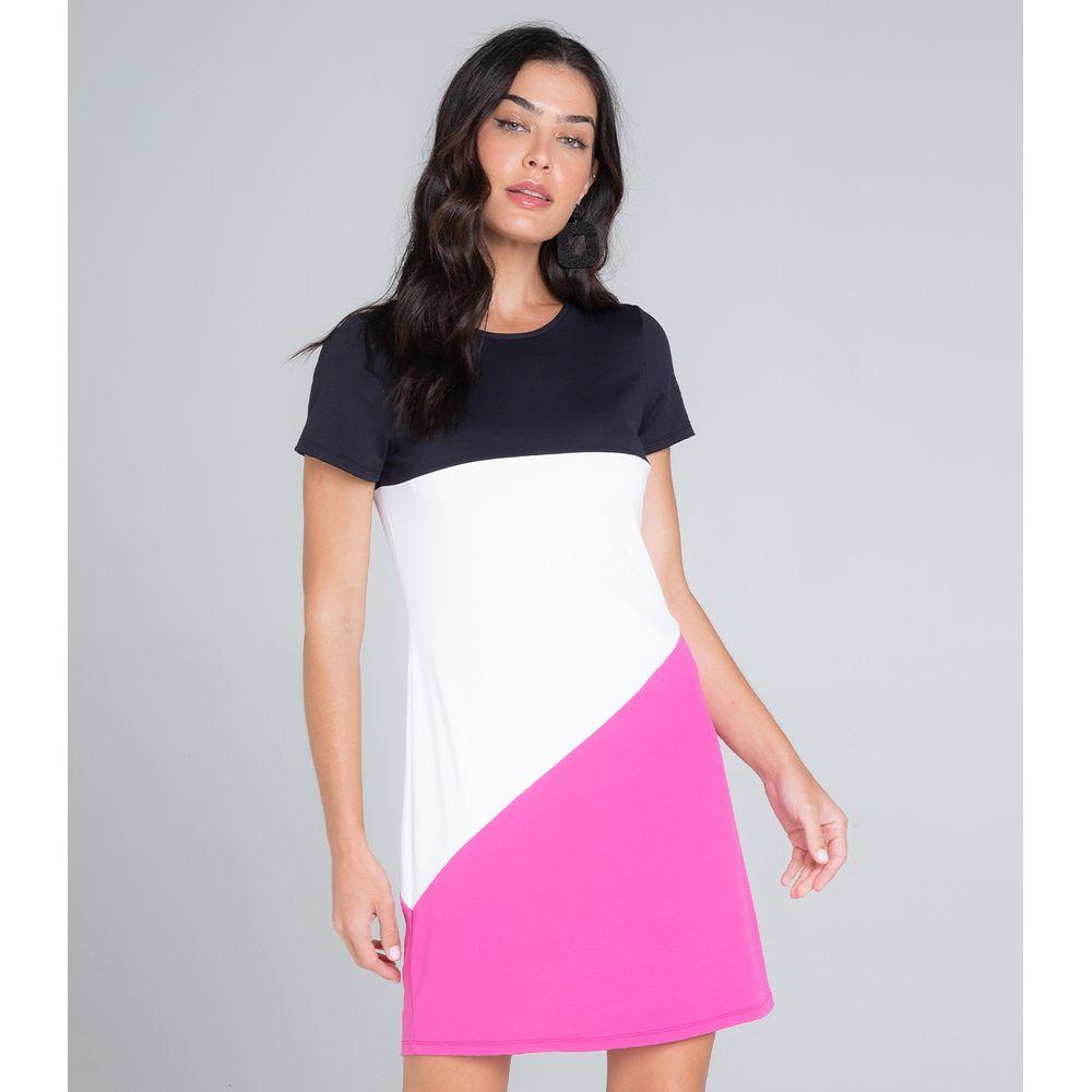 Vestido-Feminino-Curto-Tricolor-Endless-Rosa