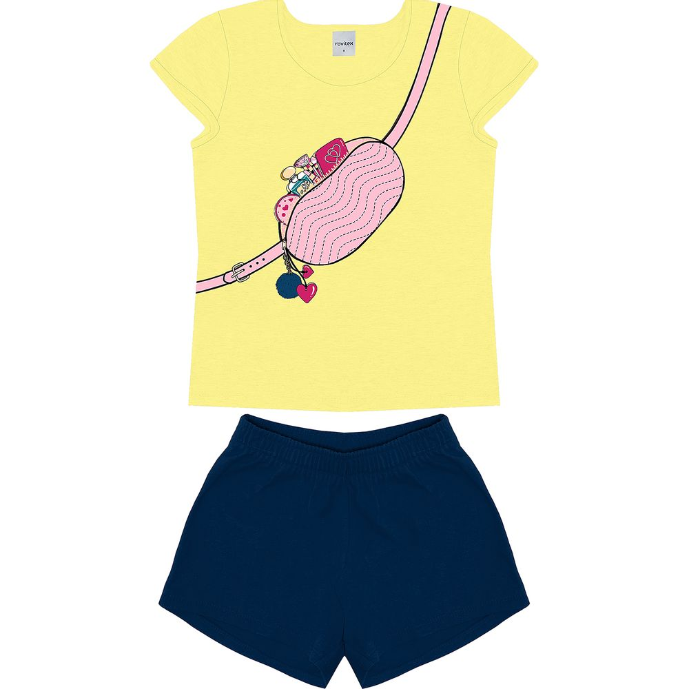 Conjunto-Blusa-Com-Shorts-Rovitex-Kids-Amarelo