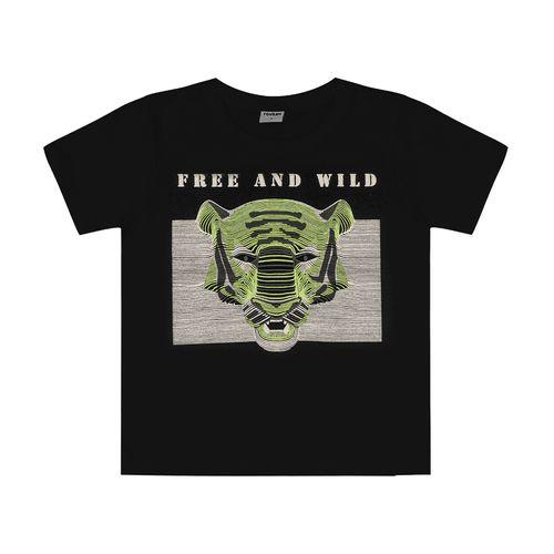 Camiseta-Infantil-Tigre-Rovitex-Kids-Preto