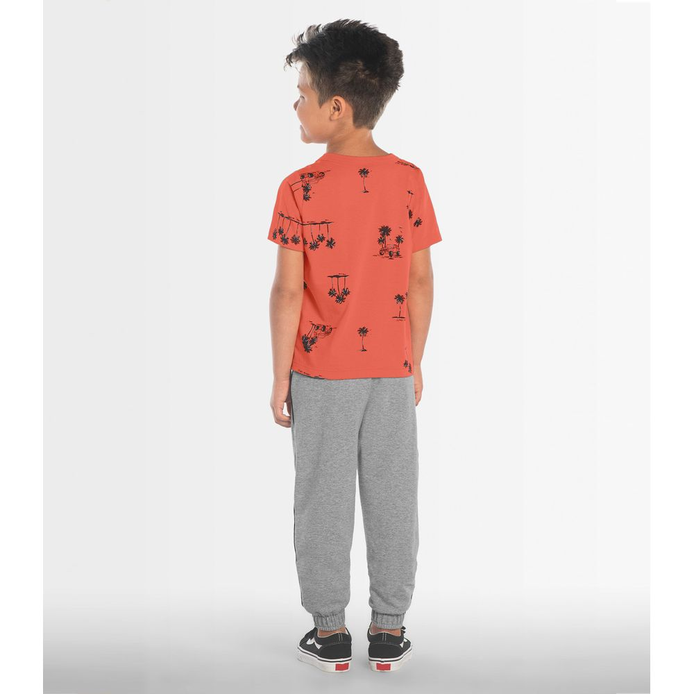 Camiseta-Infantil-Coqueiros-Rovitex-Kids-Laranja