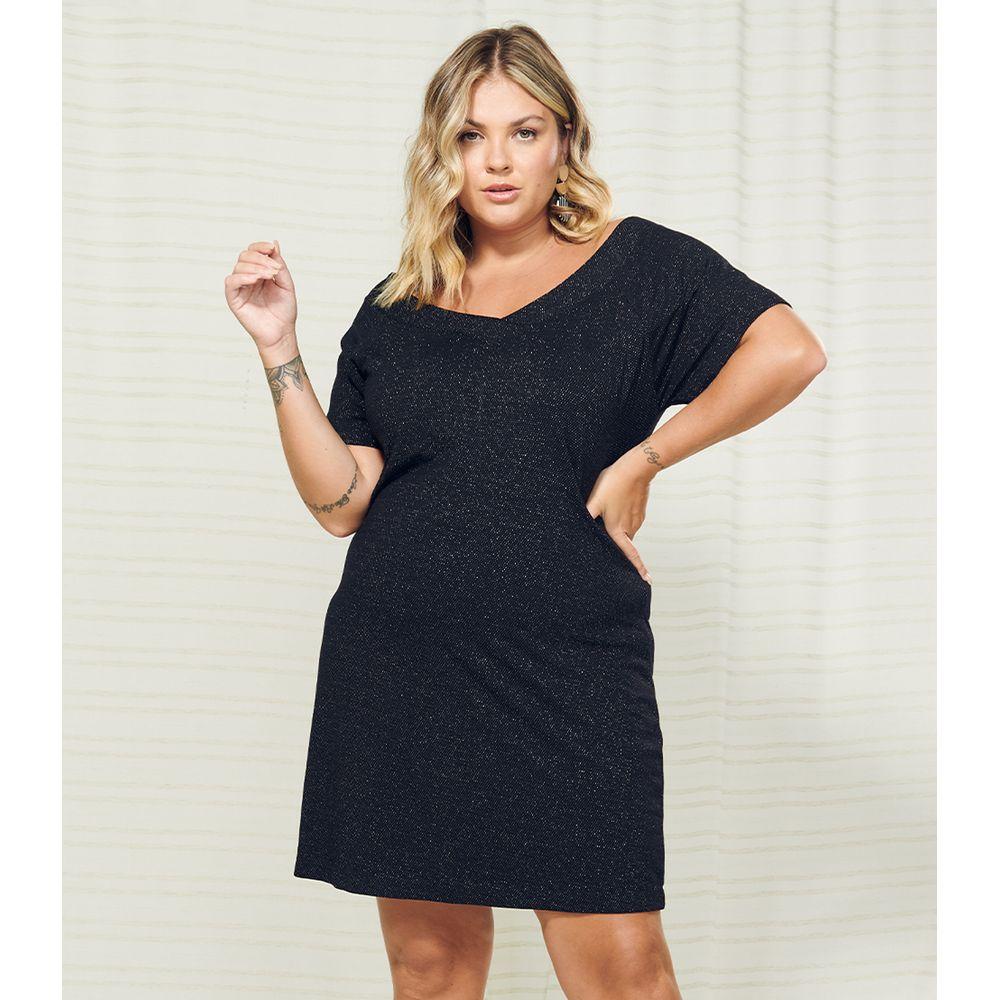 Vestido-Plus-Size-Lurex-Secret-Glam-Preto